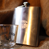 Stainless Flask with Rabbit Hash logo
