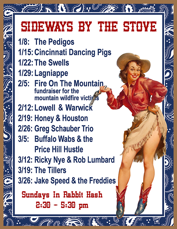 2017 sideways by the stove music line up